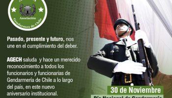 30 de noviembre, 90 años de Gendarmería. AGECH saluda a cada todas nuestras bases.